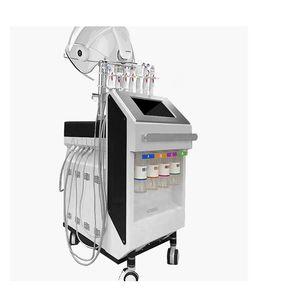 9 en 1 de alta calidad limpieza profunda de rociado de oxígeno del agua H2O2 microdermoabrasión multifunción máquina de belleza facial