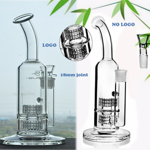 11.8Inchs Mobius Tall Bong Thick Glass Big Bongs Waterpipe Heady Dab Oil Rigs Doble matriz estéreo perc con 18mm Bowl Hookahs