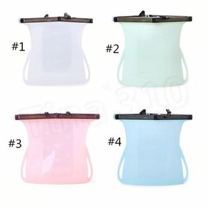 Hot 1000ml Foldable Silicone Food Preservation Bag Reusable Sealing Storage Container Food Fresh Bags Vegetables tools Food Savers T2I5153