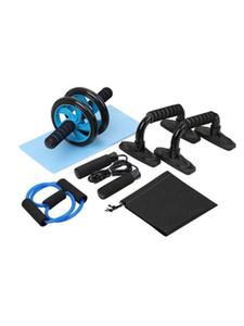 4/5 in 1 Roller addominale Wheel Kit Roller Kit addominale ruota con Push-Up Bar salto della corda e knee pad Per la casa di allenamento di ginnastica