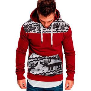 Neue Art und Weise Mens Weihnachten Winter warme Pullover Slim Fit Langarm-T-Shirt Outwear Pullover Sweatshirts Mantel verursachende Männer Top