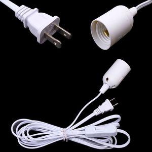 12ft 3.5M pantalla de alambre cable cable de alimentación cable de alimentación Cables de lámpara IQ candelabro Cable de alimentación UL con enchufe de bombilla