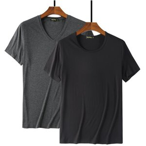 Fashion Cool T Shirt Men 95% Bamboo Fiber Hip Hop Basic Blank White T-shirt For Mens Fashion Tshirt Summer Top Tee Tops Plain Black