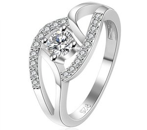 Ladies Luxury Wedding Austrian Crystal Rings Party Dress Zircon jewelry
