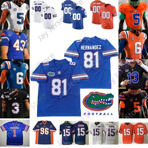Florida Gators Football Jersey NCAA Aaron Hernandez Tim Tebow Emmitt Smith Kyle Trask Feleipe Franks Perine Pierce Jefferson Pitts