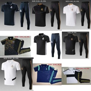 2019 2020 POLO shirts+pants Real Madrid tracksuit soccer tracksuit 2019 real madrid Maillot De Foot HAZARD ISCO jersey traning polo+pants