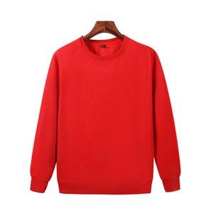 Le dernier automne et un pull en polaire équipage coton hommes occasionnels hiver cou rouge chemise à manches longues JH-022-051