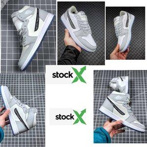 High OG aGreyAJ1 1 high OG basketball shoes 1s Royal black Toe pine green black court purple white UNC Patent men women designer sneakers 36