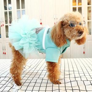 Dog Pet automne printemps robes pour petits chiens bowknot Tutu Robe pour chiens chat en peluche Vêtements pour animaux domestiques Vêtements de caniche pour chiens