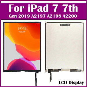Gen 2019 For iPad 7 7th 10.2 inch A2197 A2200 A2198 LCD Display Generation Digitizer Outer LCD Panel Front Glass With Sticker touchscreen