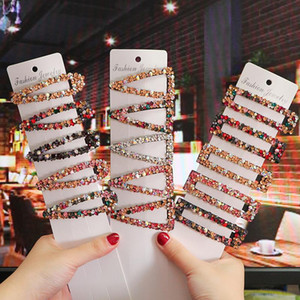 Femmes Coiffures Colorful Strass Cheveux Clips Bobby Pins Bb Clips Barrettes Barrettes Bangs Clip Headwear Coiffure Coiffure Cheveux Cadeau Nouveau