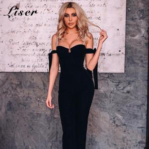 Liser 2020 été femme Tenues bretelles Bandage Jumpuits Sexy Party Celebrity Bodycon club Jumpsuit Vestidos