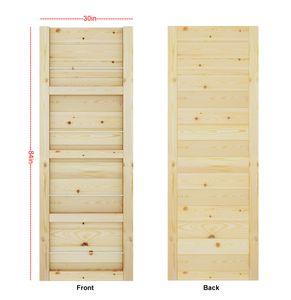 DIYHD Barn Door Slab Knotty Pine Wood Door Panel Loft Style 2 3 4