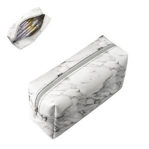 Мода Мраморного макияжа сумка Женщина несессер Feminina Портативного Tote туалетная сумка Организатор Beauty Case Cosmetic Kosmetyczka
