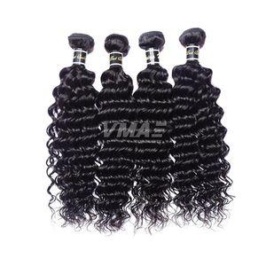 Extensions de trame de cheveux vierges Brésiliennes de la Vierge de Virginie 3 Bundles Lot 100% non transformés Cheap Human Hair Tissues Produit