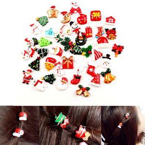 10Pcs Mini Flatback Christmas Resin Ornament Crafts Cabochon For Scrapbooking Xmas Kid Toys Gift DIY Embellishments Accessories