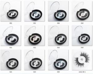 Горячая продажа 23 Стили Выбор 3D Поддельный норка Ресницы OEM / пользовательский 3D Silk Protein Lashes 100% Жестокость Free Lashes Eye