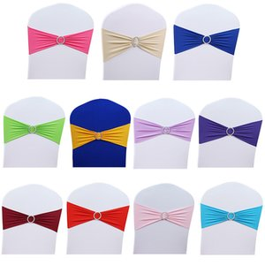 50pcs Lot 15x36cm Stretch Wedding Belt Chair Cover Band With Buckle Slider Sashes Bow Decorations Wholesale New Hot