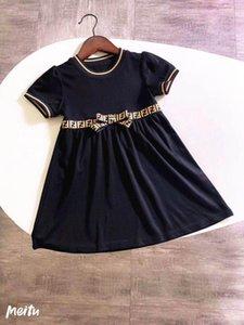 heißen Verkauf kleidet kurze Ärmel Sommermädchen-Baumwollband Kindern gilrs Partei Kleidung
