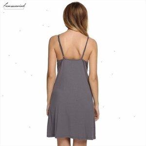 Spring Brand Autumn Nightgown Women Sexy Spaghetti Strap Lace Patchwork Lingerie Dress Sleepwear Sleepshirts Size S Xl