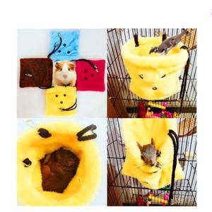 Pet Manter Quente Saco De Dormir Hamster Cobaia Papagaio Ninho De Algodão Suprimentos De Inverno Portátil Com Amarelo Vermelho Azul Cor 7 5sca J1