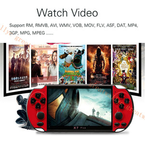 X7 Além disso 5.1inch Vídeo Game Console 8GB 8/16/32/64/128 Bits Duplo Rocker Jogador Handheld do jogo portátil para crianças
