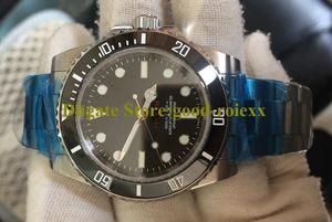 Homens Estilo de 3 Automatic Blaken Relógios Em Mens nenhuma data Sapphire relógio Ceramic Bezel 114060 Sub Mergulho homens do esporte Baselworld Oyster pulso