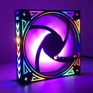 nouveau design 12cm arc-en-LED fan iridescence ventilateur de 120mm + 3 broches molex 4D 12V pour ordinateur pc mis en place ventilateur de refroidissement du radiateur de jeu SCREW