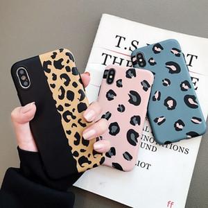 Cas d'impression de mode IMD pour téléphone Leopard pour iPhone X XR XS MAX Soft TPU pour iPhone 6 7 8 Plus