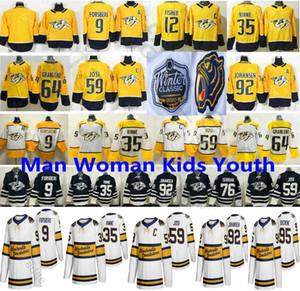 2020 Winter Classic Nashville Predators 9 Filip Forsberg 35 Pekka Rinne 59 Romano Josi 92 Ryan Johansen 64 Mikael Granlund los jerseys del hockey