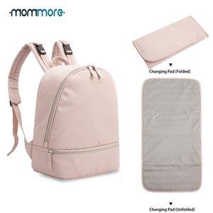 Diaper Backpack mommore piccolo di modo impermeabile borsa da viaggio pannolino con fasciatoio Nursing Borsa per la cura del bambino Y200107