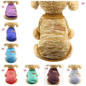 Ropa de perro de moda otoño invierno mascota perro suéter abrigo ropa cálida defensiva fría cachorro perros ropa ropa traje camisa de perro dbc vt1077