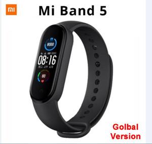 """Оригинальный Xiaomi Mi Группа 5 Смарт Браслет Global Version 1.1"""" AMOLED экран Частота сердечных сокращений Фитнес Tracker Bluetooth 5.0 Водонепроницаемый Miband5"""