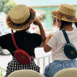 Çocuklar Batı Çanta Klasik Bebek Kız Çanta Küçük Çocuk Madeni Para Çanta INS Sıcak PU Metal Zinciri Messenger Omuz Çantası