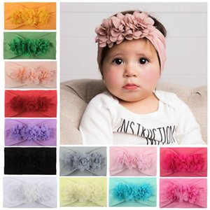 Bandas de cabelo de flores meninas 13 design sólido Flores Headband bebê Bandas bonito Headbands Crianças Headwear meninas 07