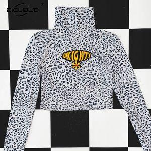 Vintage Gothic Punk Girls Omighty leopardo Bassiera Donna Primavera Autunno 2020 manica lunga T Shirt Harajuku Via Hip Hop Tshirt