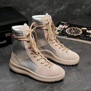 2019 marque chaude bottes meilleure qualité crainte de Dieu Baskets montantes militaire Hight Armée Bottes Hommes et Chaussures Femmes Mode Martin Bottes 38-45