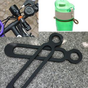 Titular Bike Light Bicicleta Guiador Silicone Strap Band de telefone Fixação Elastic Tie Rope Ciclo Bicicleta tocha Bandagens