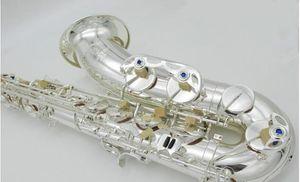 A estrenar YANAGISAWA T-WO37 Saxofón tenor niquelado B plano Profesional YANAGISAWA Super Play Sax boquilla con estuche