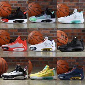 الرجال الرابع والثلاثون 34 أحذية الذهب الأسود لكرة السلة الكبار رياضي BHM يوم عيد الميلاد Jumpman كاندي اطفال الرياضة حذاء رياضة حذاء