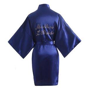 """Estate Sleepwear Kimono Bagno abito Donne strass Lettera """"Madre della Sposa"""" Wedding abiti sexy Rayon camicia da notte Camicia da notte"""
