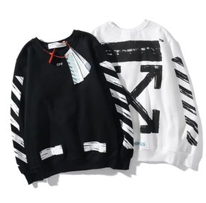 Mens designer luxury sweatshirts new twill arrows destroy the basic street ow casual pullover sweater couple same paragraph