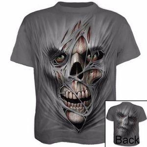 Mann-Sommer-Gym im Freien T-Shirt Quick Dry Fitness Laufen Tops Art und Weise 3D Printed T-Shirt-beiläufige kurze Hülse T-Shirt Schädel