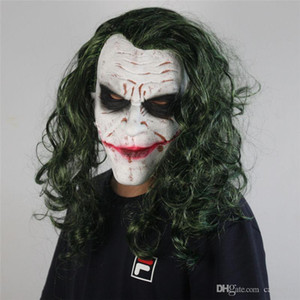 Halloween Scary Clown Mask Dark Knight Batman Clown Latex Mask New Halloween Wig Headgear Cosplay Props