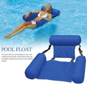 Pool Floats für Erwachsene Aufblasbare PVC Pool Floats Durable aufblasbare Schwimmen Lounge Leichtgewichtler faltbare Sitz Bett