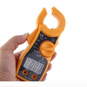 A New MT87 Professional LCD Digital Clamp Meter Multimeters Voltmeter Ammeter Ohmmeter Portable Multi-function tester Durable