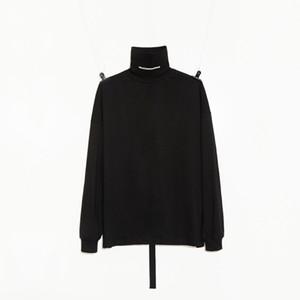 Hommes manches longues T-shirt G-dragon style Peaceminusone col roulé à manches longues Chemise à manches longues noir et chemise blanche Top