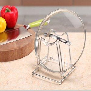 2019 Nouveau couvercle en acier inoxydable Pot rack Pan de coupe Porte-couteaux de cuisine Conseil Organisateur