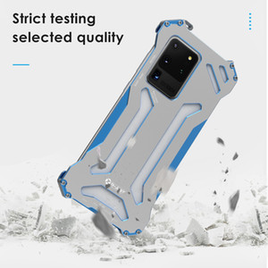 R-just Armor Metal Case For Samsung Galaxy Note 20 ultra 10 9 S10 S9 S8 Plus S10 E 5g Shockproof Cover For Galaxy s20ultra S20plus s20