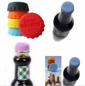 Пиво Кокс Крышка силиконовая Пивные крышки Многократное использование цвета конфеты Силиконовые крышки Соевый соус Напитки Вино Пиво Люки Stay Fresh Lid WY69Q